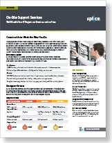 On-Site Support Services data sheet